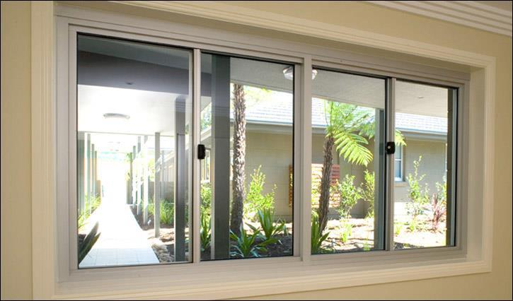 Aluminium commercial sliding window Adelaide Arborcrest
